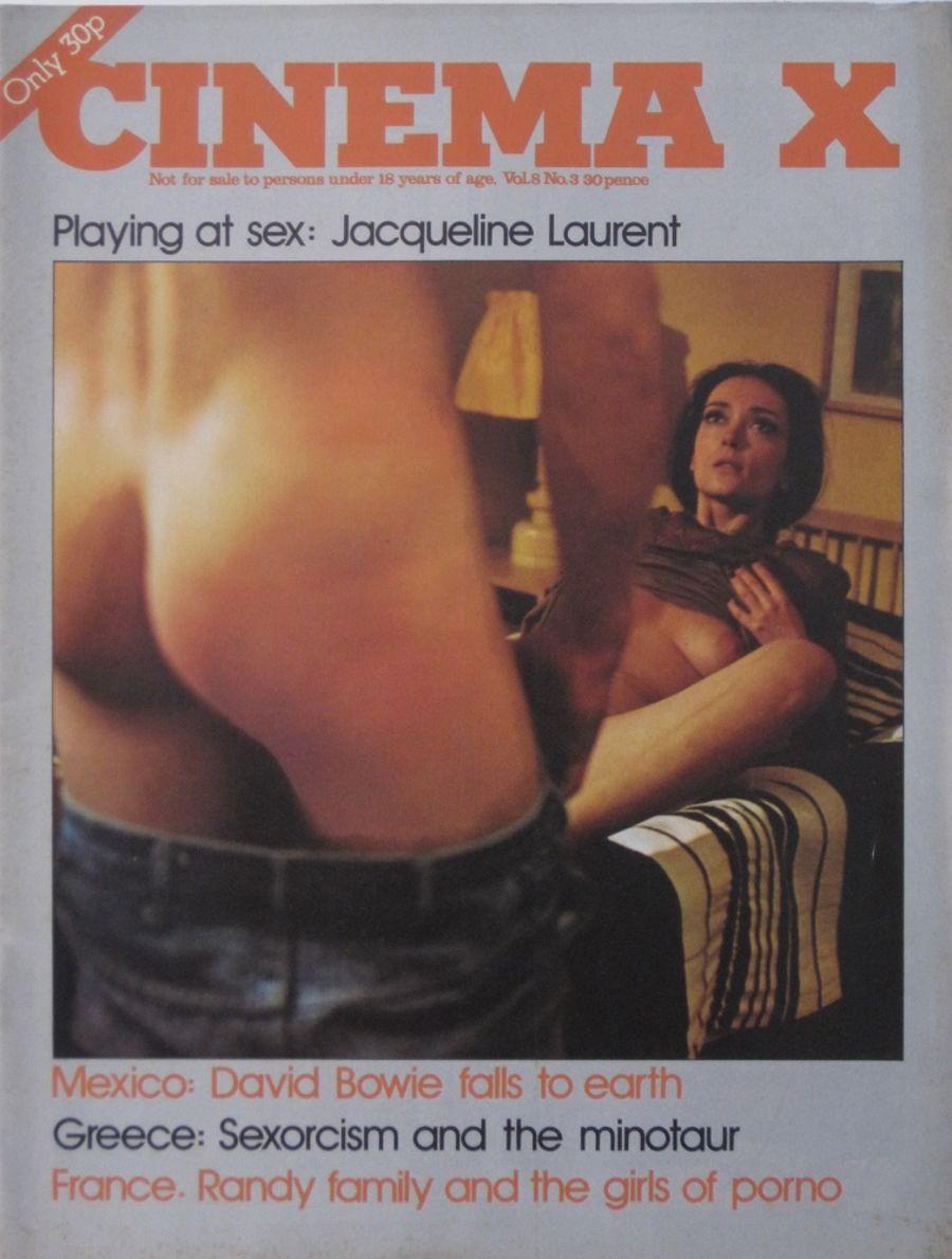 CINEMA X. VOL. 8  NO. 3. 1976 VINTAGE ADULT FILM MAGAZINE.