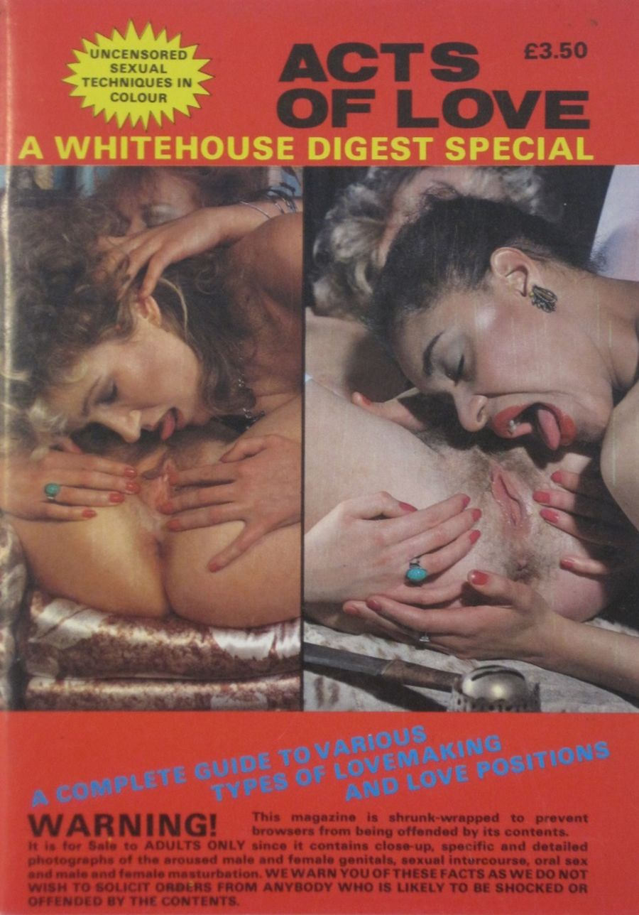 WHITEHOUSE DIGEST SPECIAL. ACTS OF LOVE.  VINTAGE ADULT POCKET MAGAZINE.