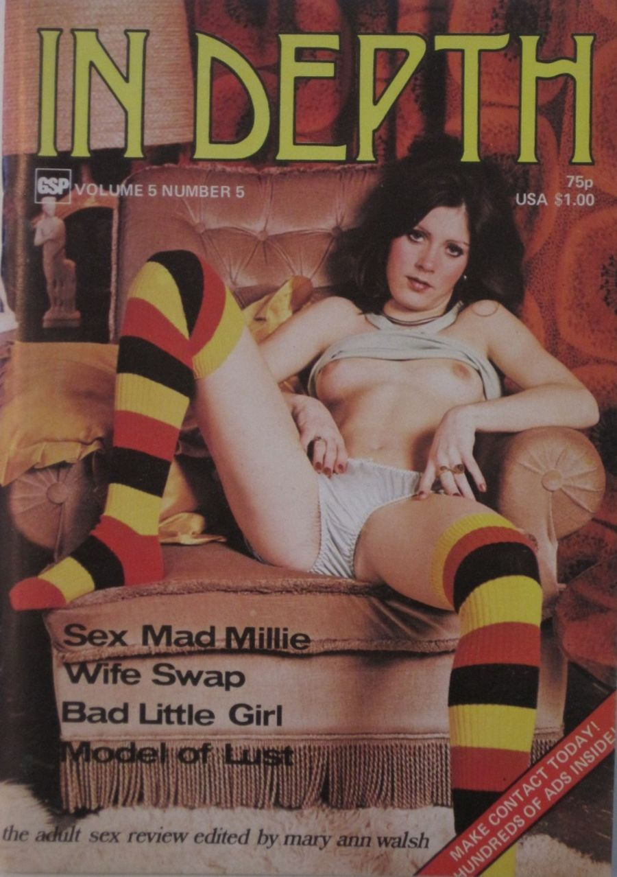 IN DEPTH. VOL. 5  NO. 5.  1976 VINTAGE ADULT POCKET MAGAZINE.