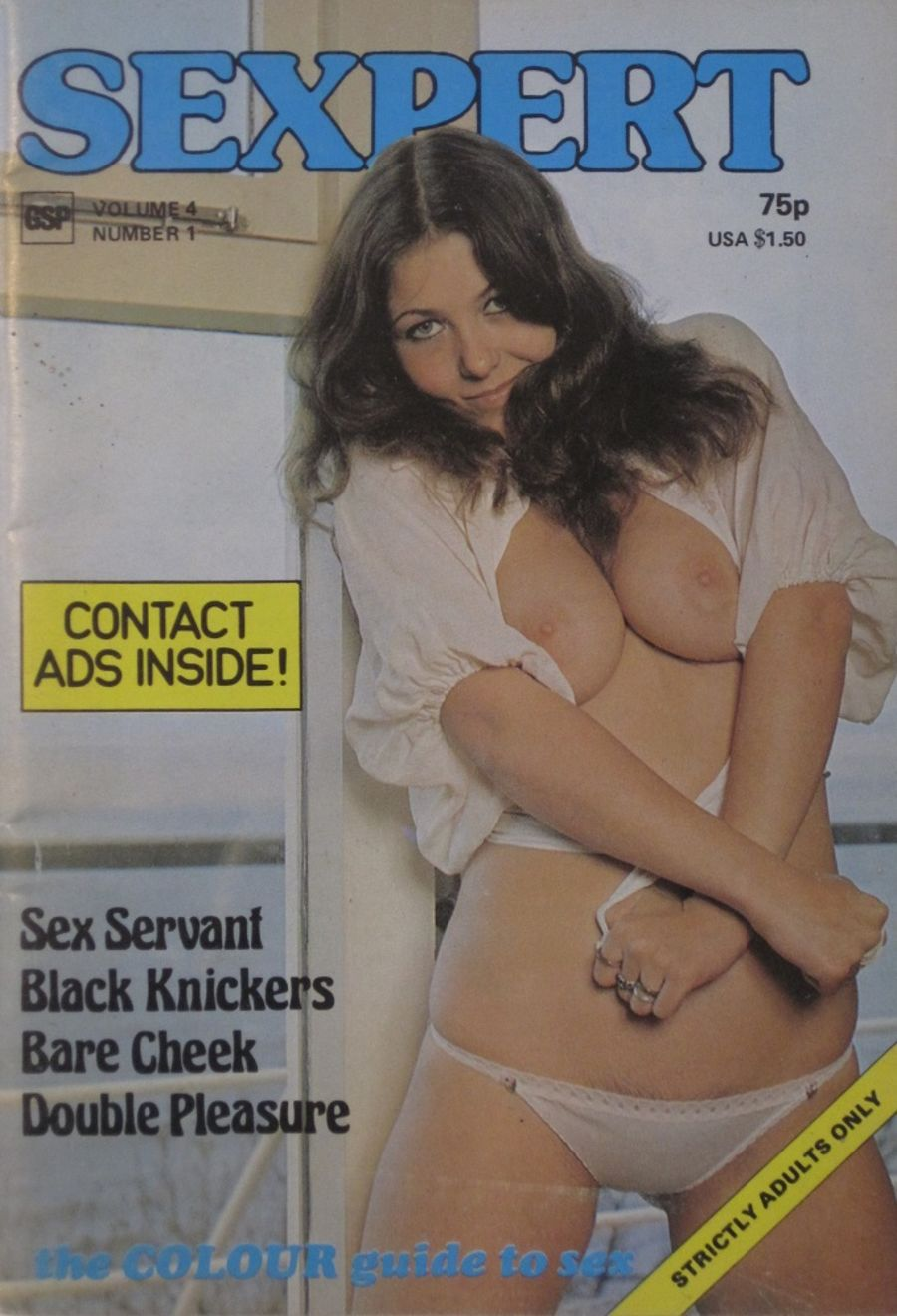 SEXPERT. VOL. 4  NO. 1.  1976 VINTAGE ADULT POCKET MAGAZINE.