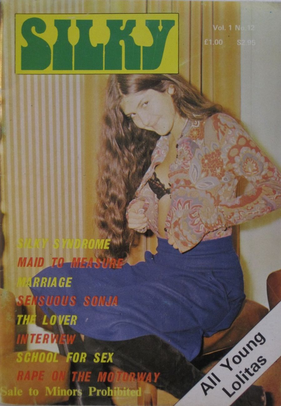 SILKY. VOL. 1  NO. 12.  1976 VINTAGE ADULT POCKET MAGAZINE.