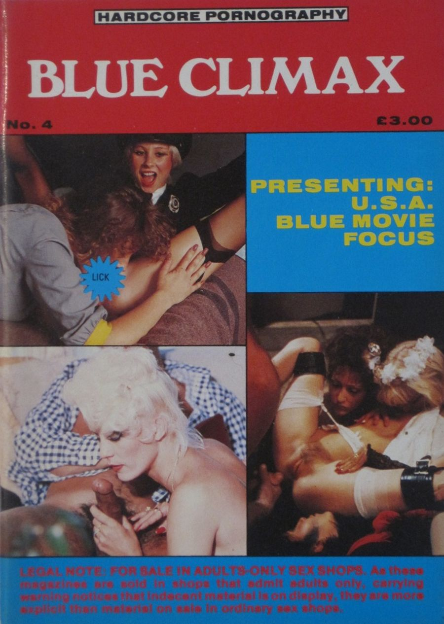 BLUE CLIMAX.  NO. 4.  VINTAGE ADULT HARDCORE POCKET MAGAZINE.