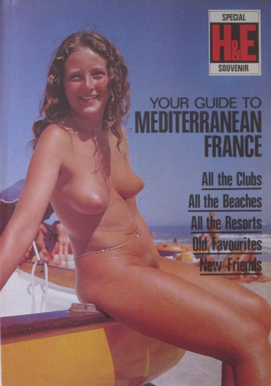 HEALTH & EFFICIENCY GUIDE TO MEDITERRANEAN FRANCE. Vintage Naturist Magazine.  DM10058.