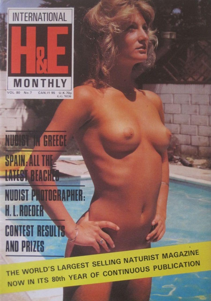 HEALTH & EFFICIENCY MONTHLY Vol. 80 No. 7. Vintage Naturist Magazine.  DM10066.