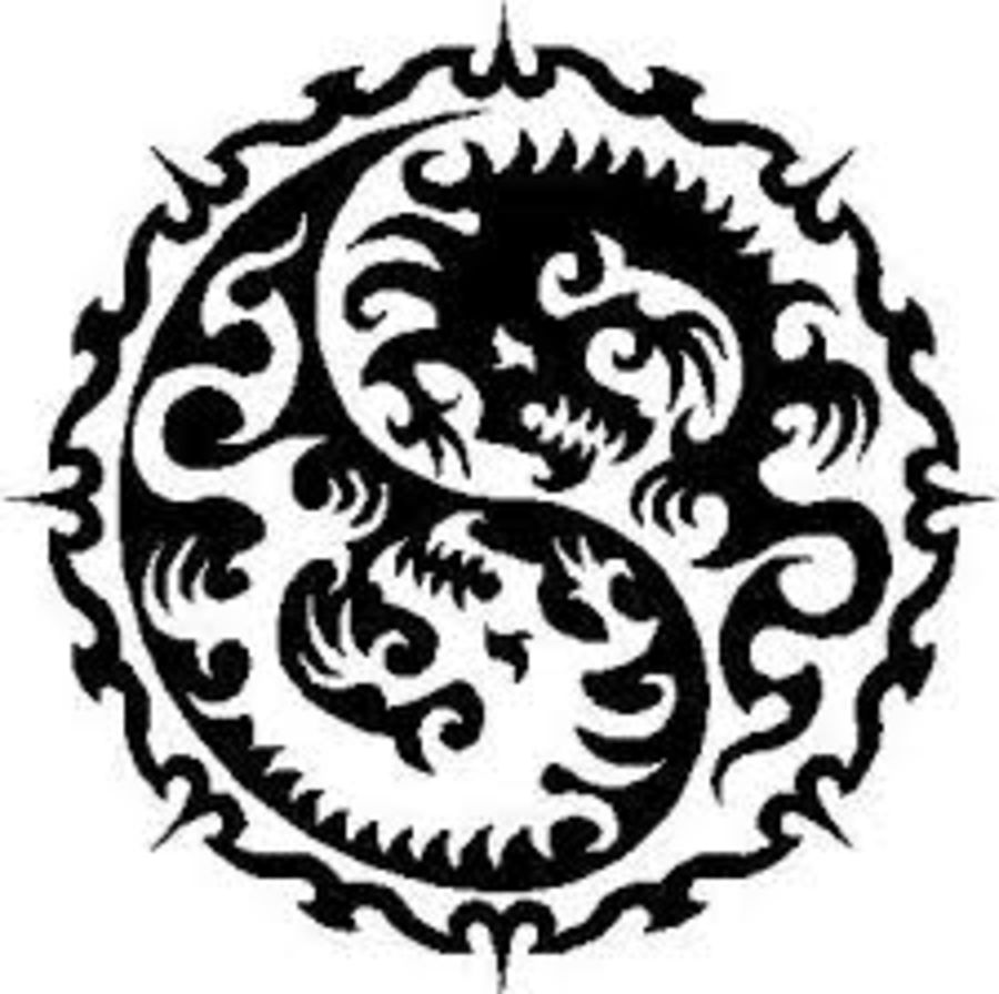 circle dragon design