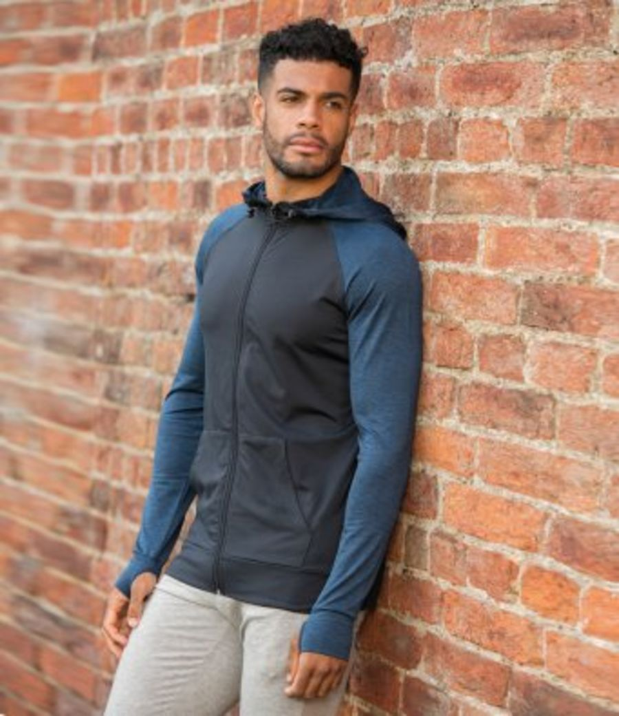 jc057cool contrast training hoodie