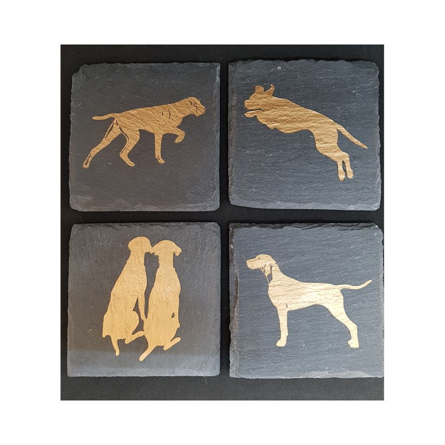 Gilded Slate Coasters - Chantal's Gifts (formerly Creative Creases and Folds)