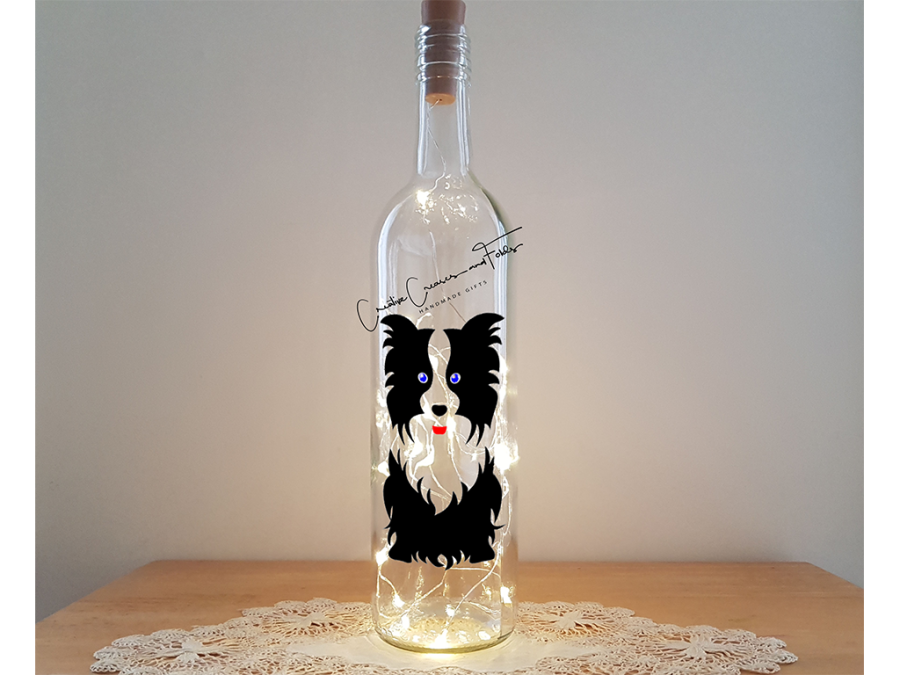 Border Collie Bottle Lamp Kit