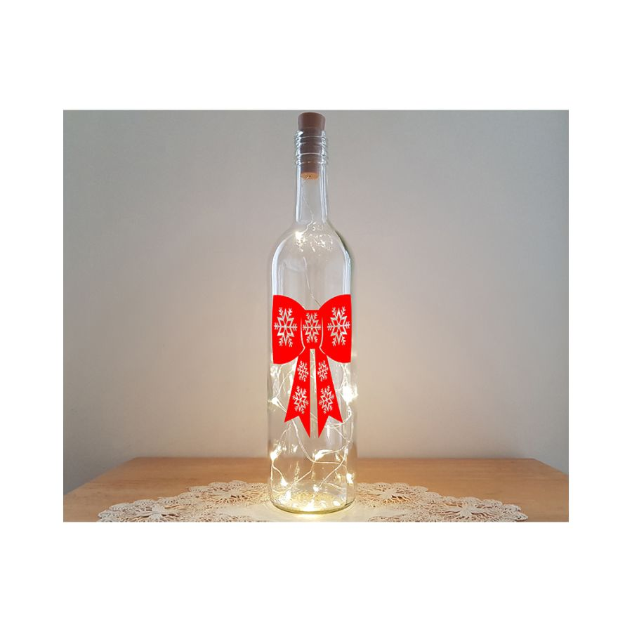 Lit Bottle Kit - Christmas Bow