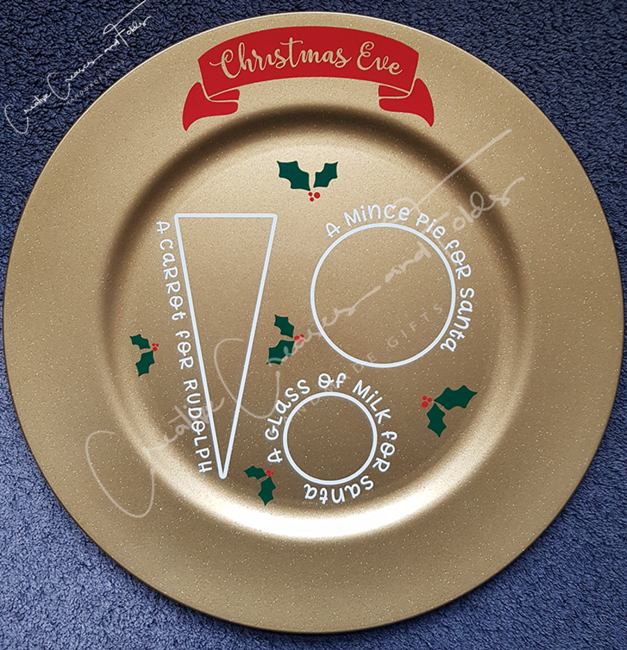 Christmas Eve Plate Decal