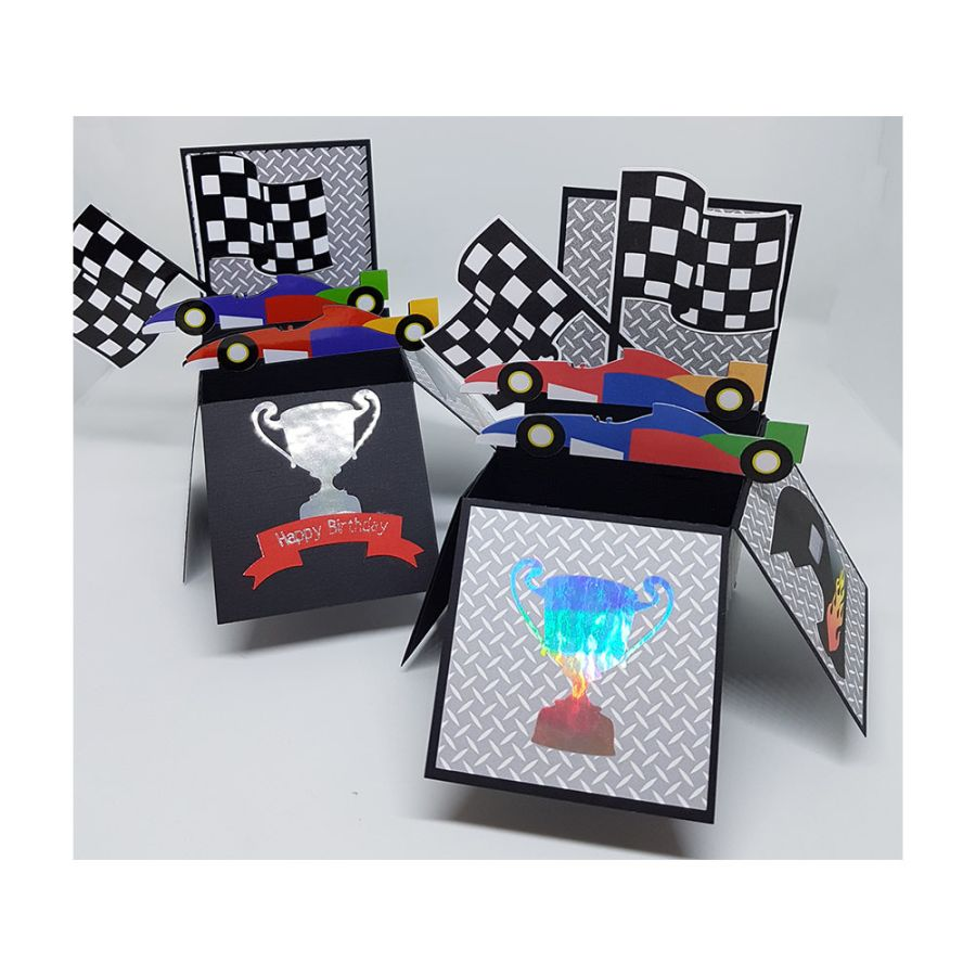 Racing Car Box Card
