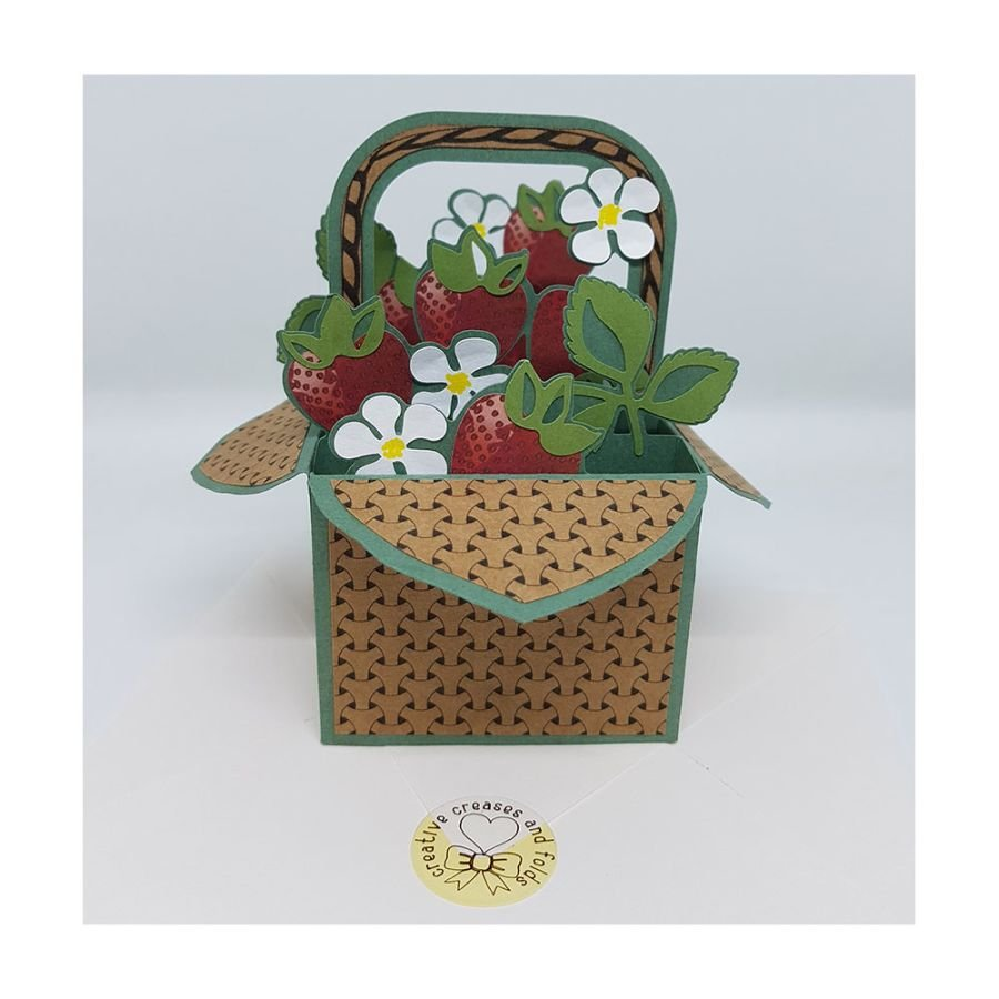 Strawberry Basket Box Card