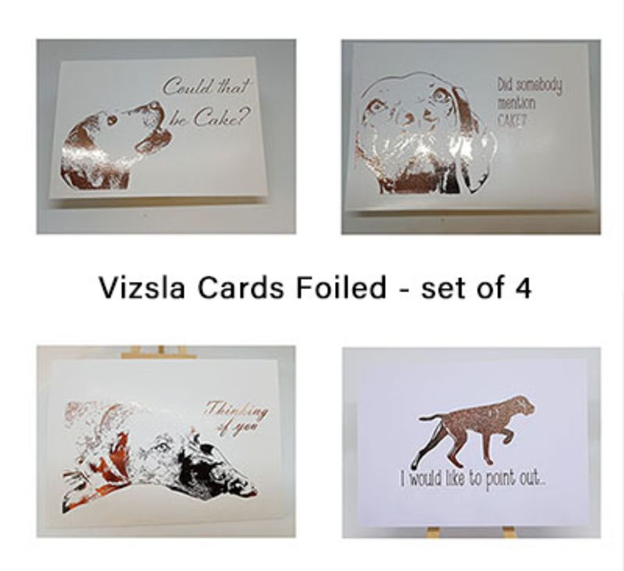 Vizsla Card Set - 4 cards