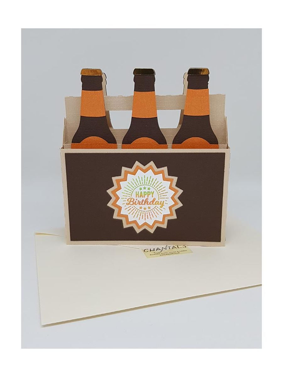Beer Bottles Box Card