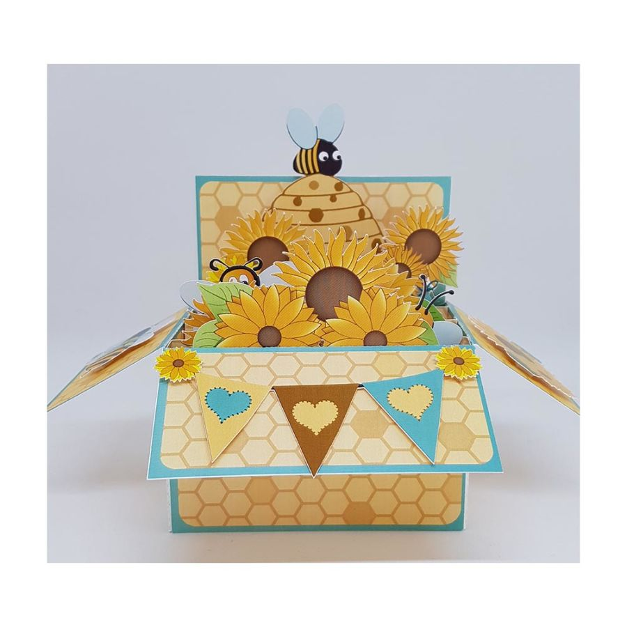 Honey Bee 3D Box Card