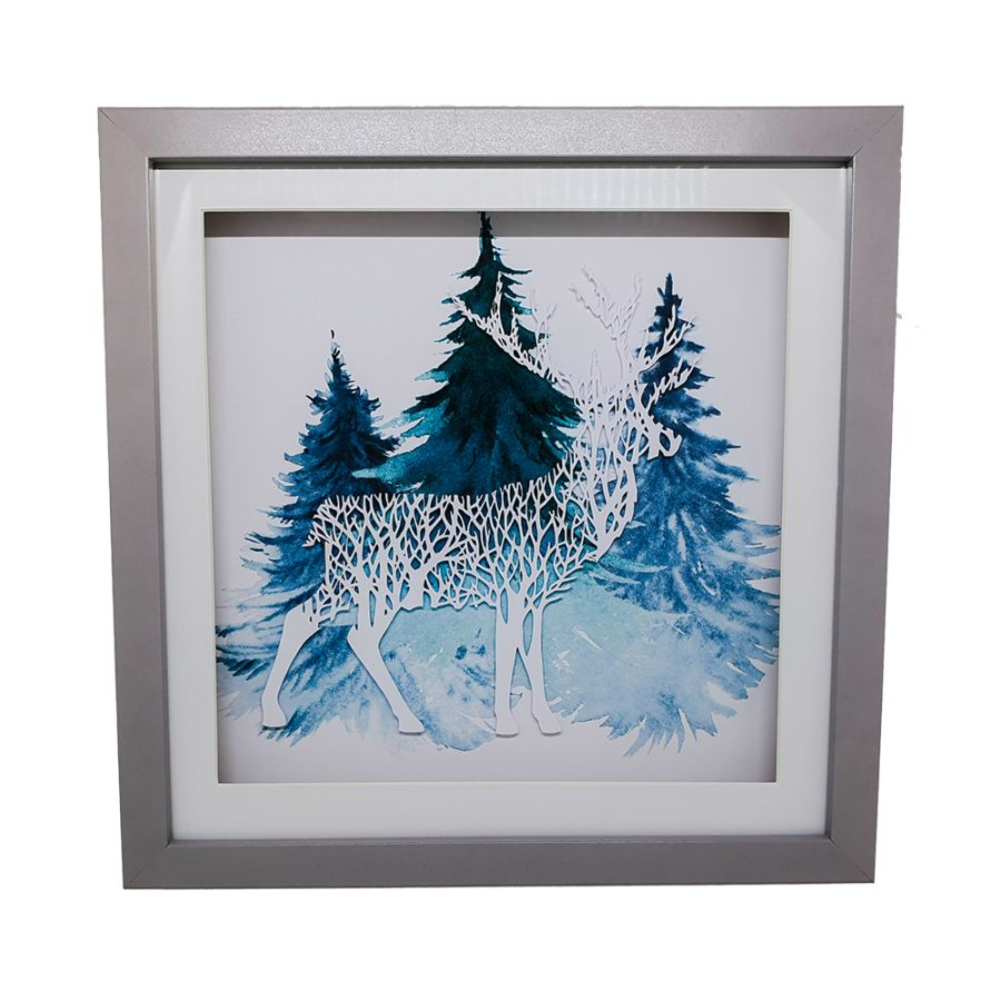 Framed Papercut Stag