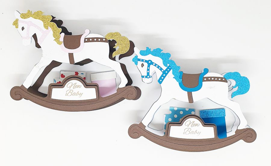 3D Rocking Horse Keepsake Card