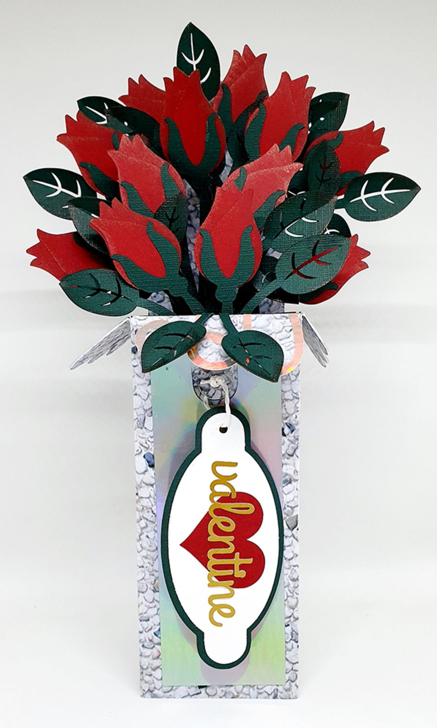 A Dozen Roses 3D Box Card