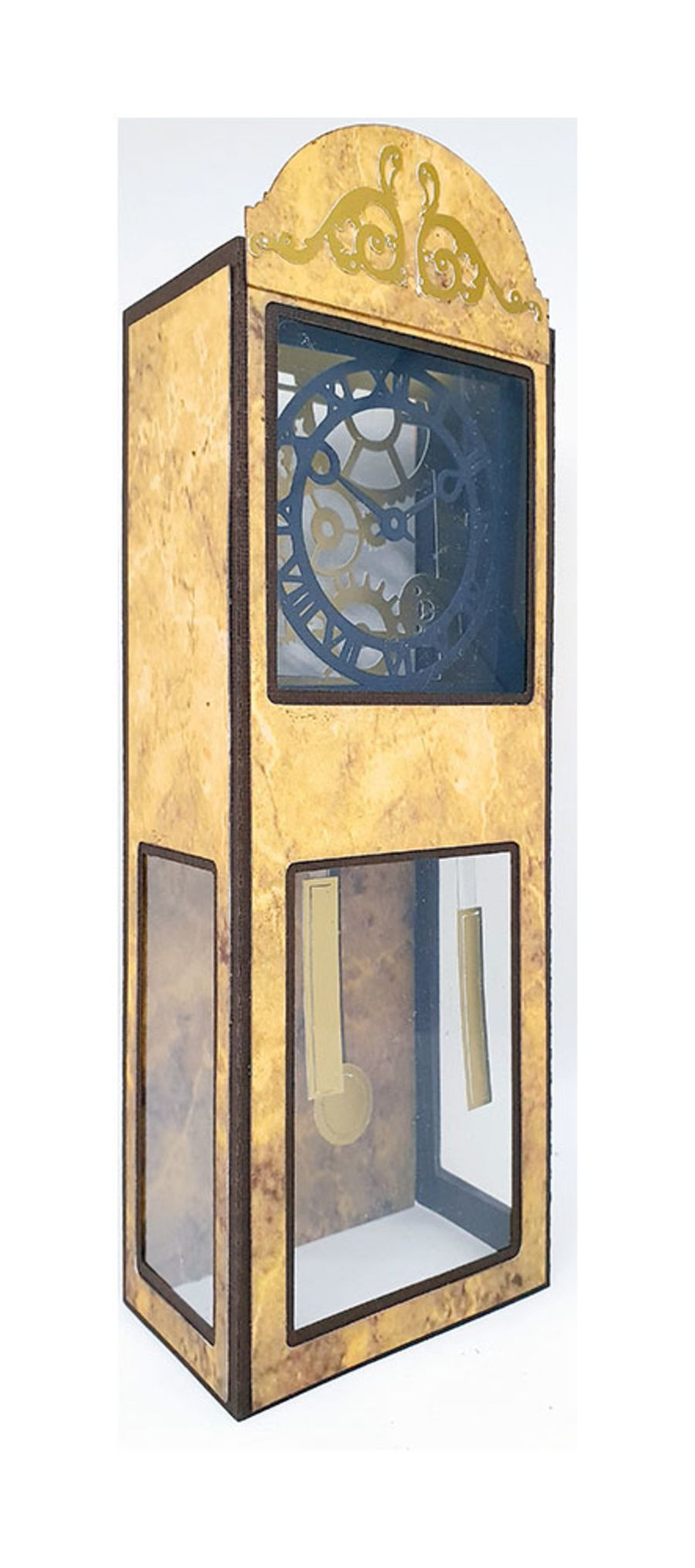 Grandfather Clock 3D Box Card