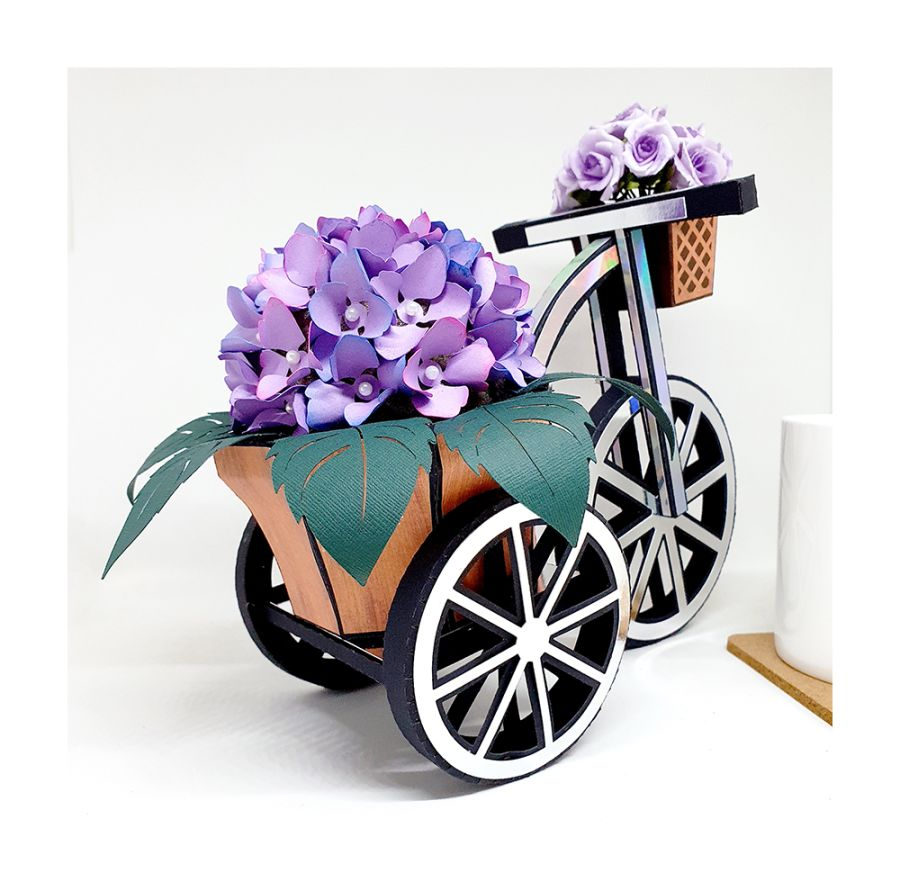 Tricycle with Flowers