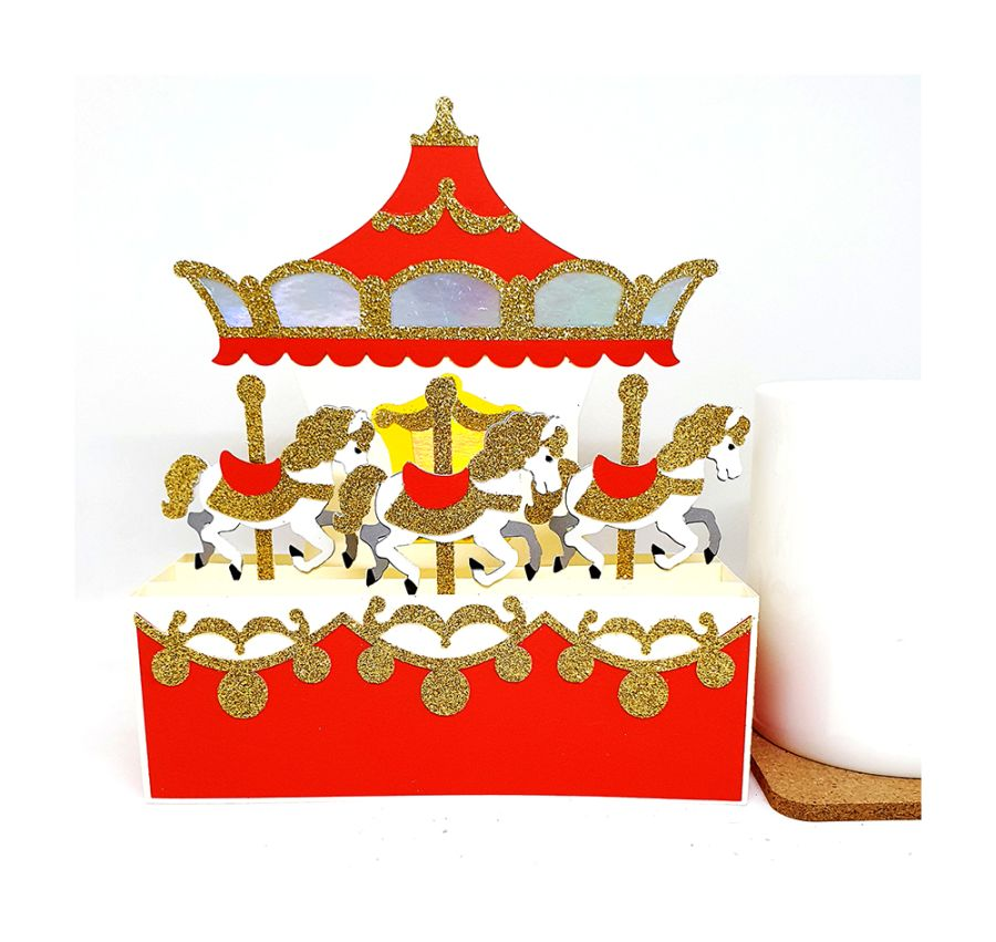 Carousel 3D Box Card
