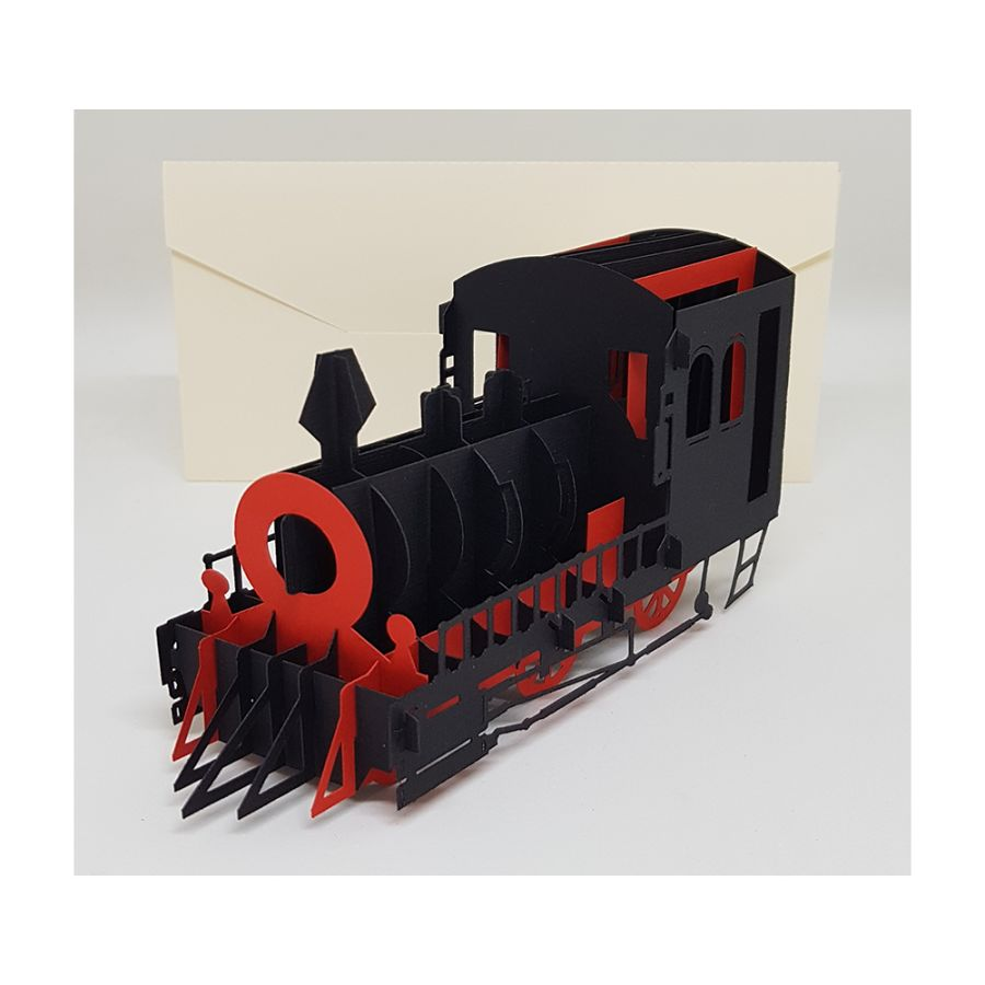 Steam Train 3D Card