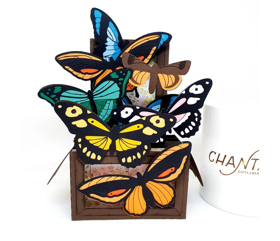 Butterfly 3D Box Card