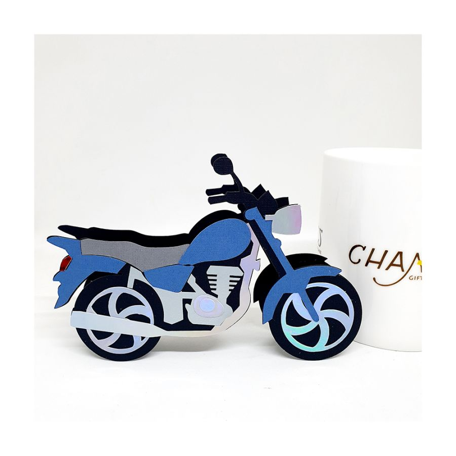 Motorcycle 3D Box Card