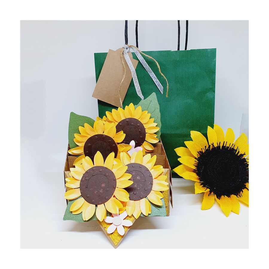 Sunflower 3D Box Card