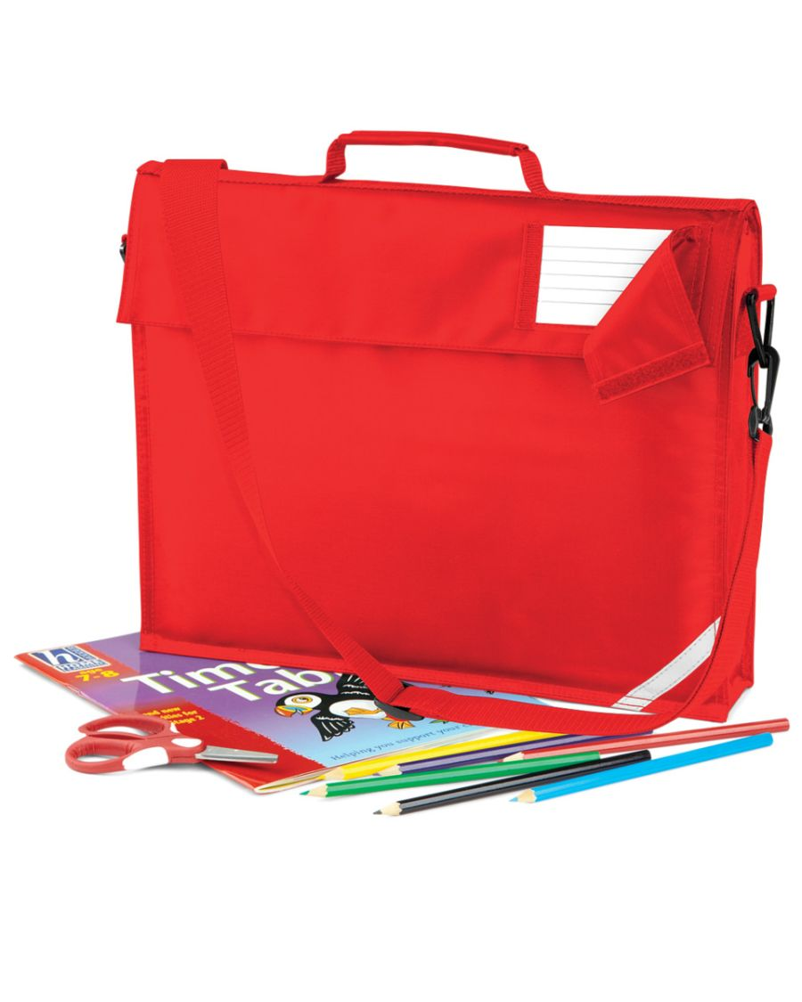 Junior Book Bag with Strap - Red