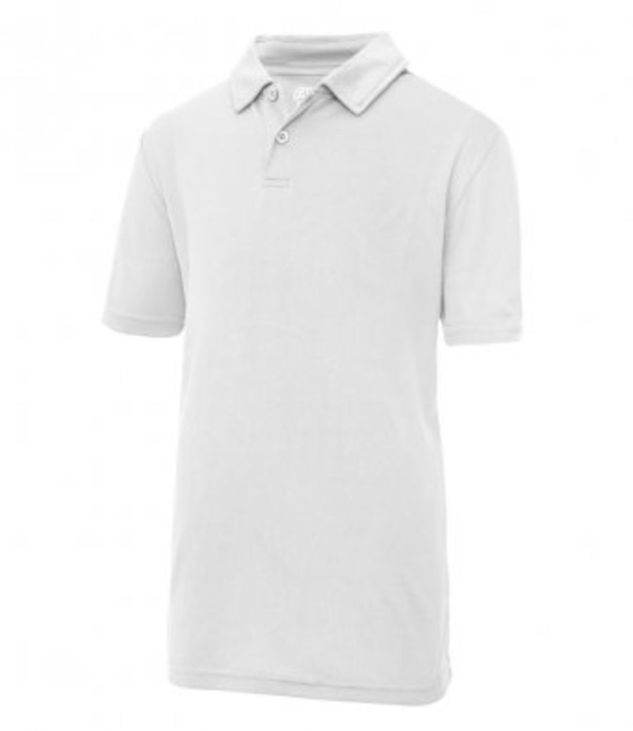 Childrens Cool Wicking Polo Shirt SUMMER - WHITE