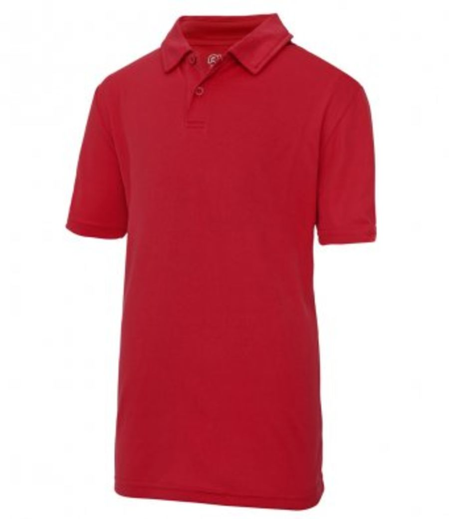Childrens Cool Wicking Polo Shirt SUMMER - RED