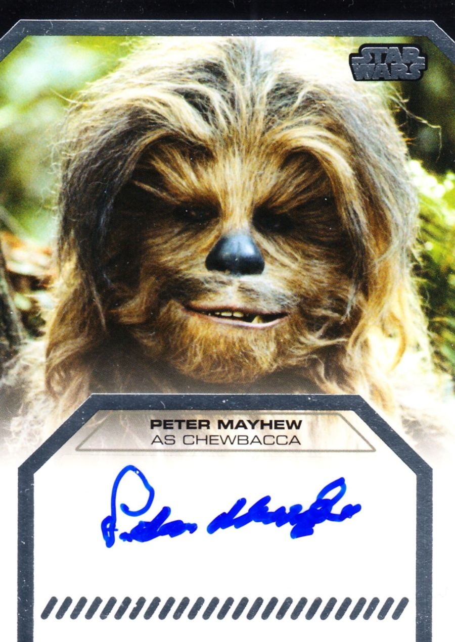 Star Wars Galactic Files Series 2 Peter Mayhew Signed Chewbacca Topps Autograph Card 2013