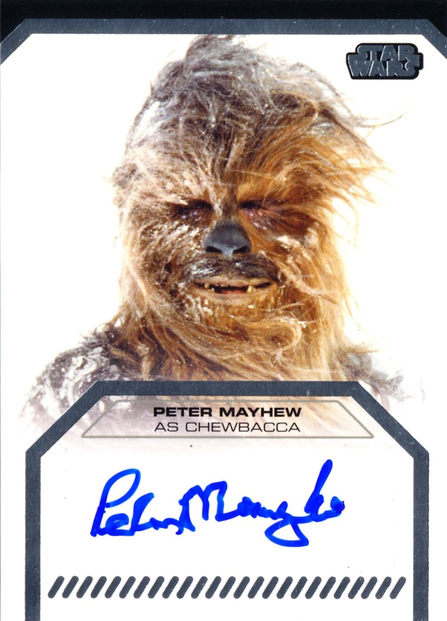Star Wars Galactic Files Peter Mayhew Signed Chewbacca Topps Autograph Card 2012