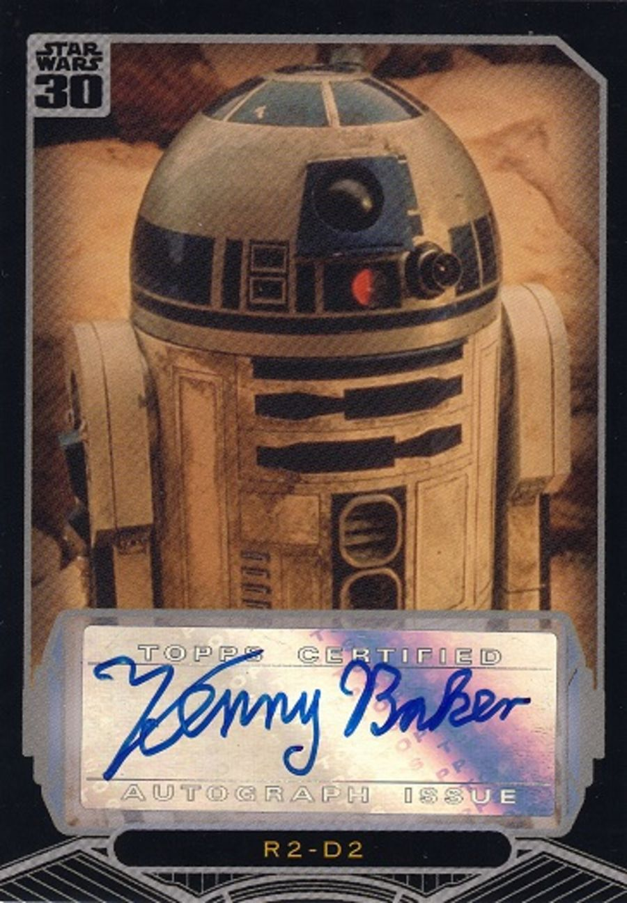 Star Wars 30th Anniversary Kenny Baker Autograph as R2-D2 Auto Card