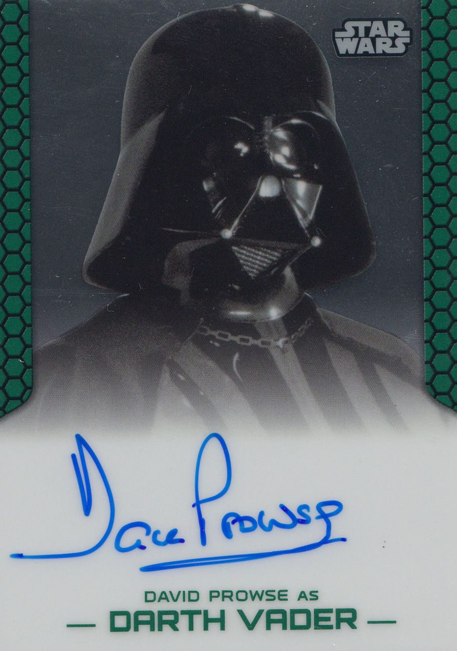 David Prowse Auto Card Star Wars Darth Vader Topps Perspectives II 2015 Autograph