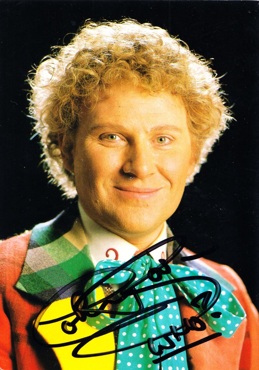 Colin Baker Signed The 6th Dr BBC Official Doctor Who Autograph Postcard
