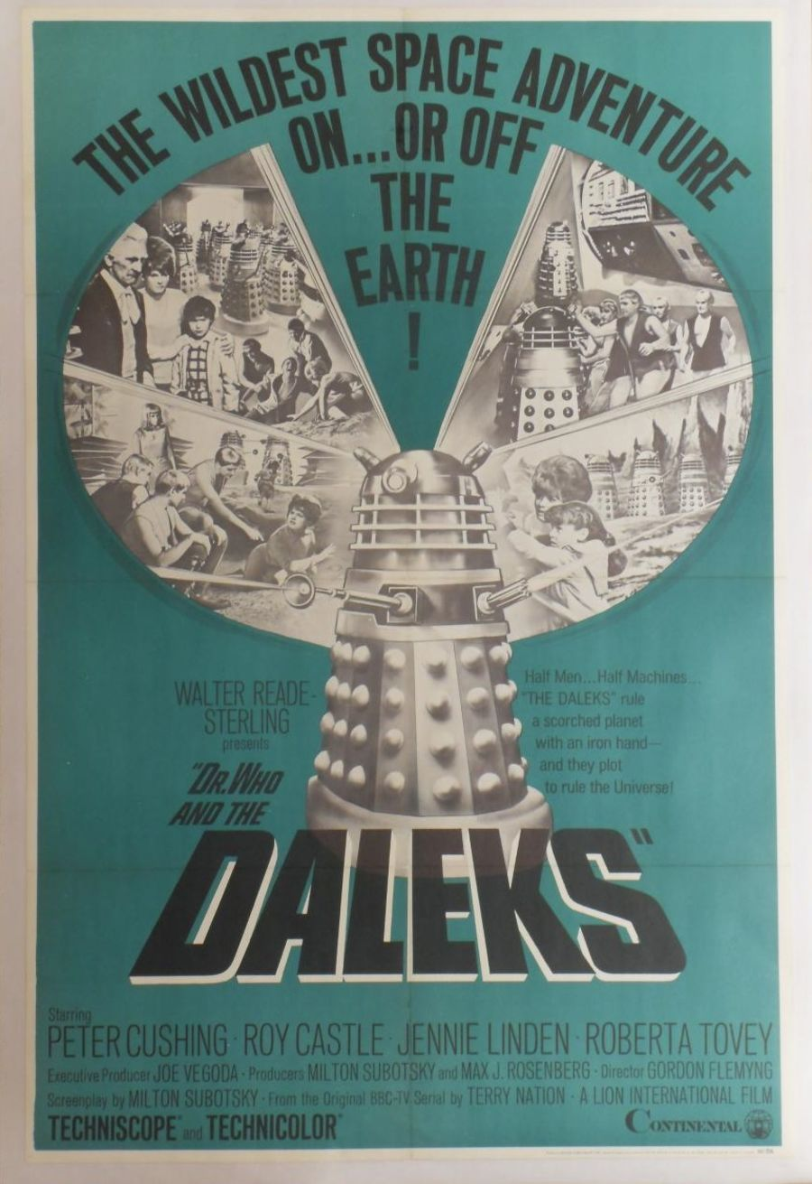 Doctor Dr Who And The Daleks 1965 Original US 1 Sheet 27x41 Movie Poster