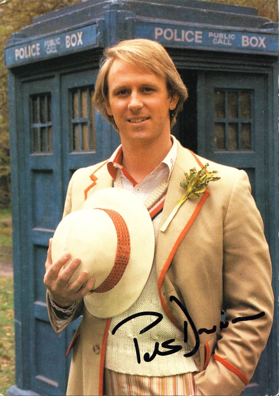 Peter Davison Signed The 5th Dr BBC Official Doctor Who Autograph Postcard