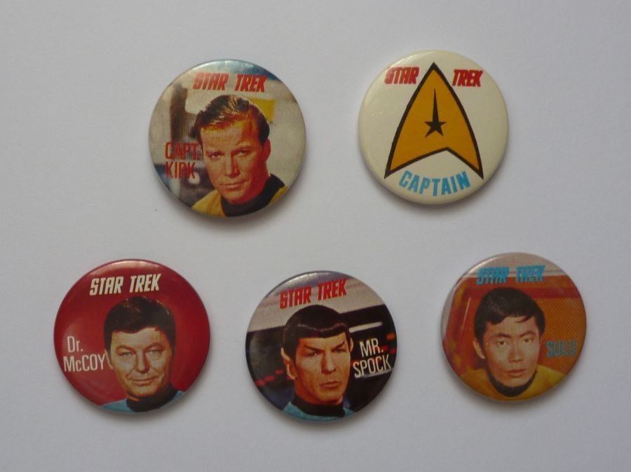 Classic Original Full Set Star Trek Kelloggs Sugar Smacks Badges 1969