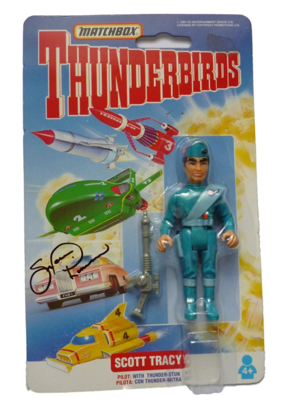 Matchbox Thunderbirds Scott Tracy Figure Shane Rimmer Signed With Exact Proof