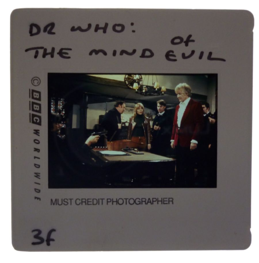Doctor Who Jon Pertwee BBC 35mm Colour Publicity Slide The Mind of Evil