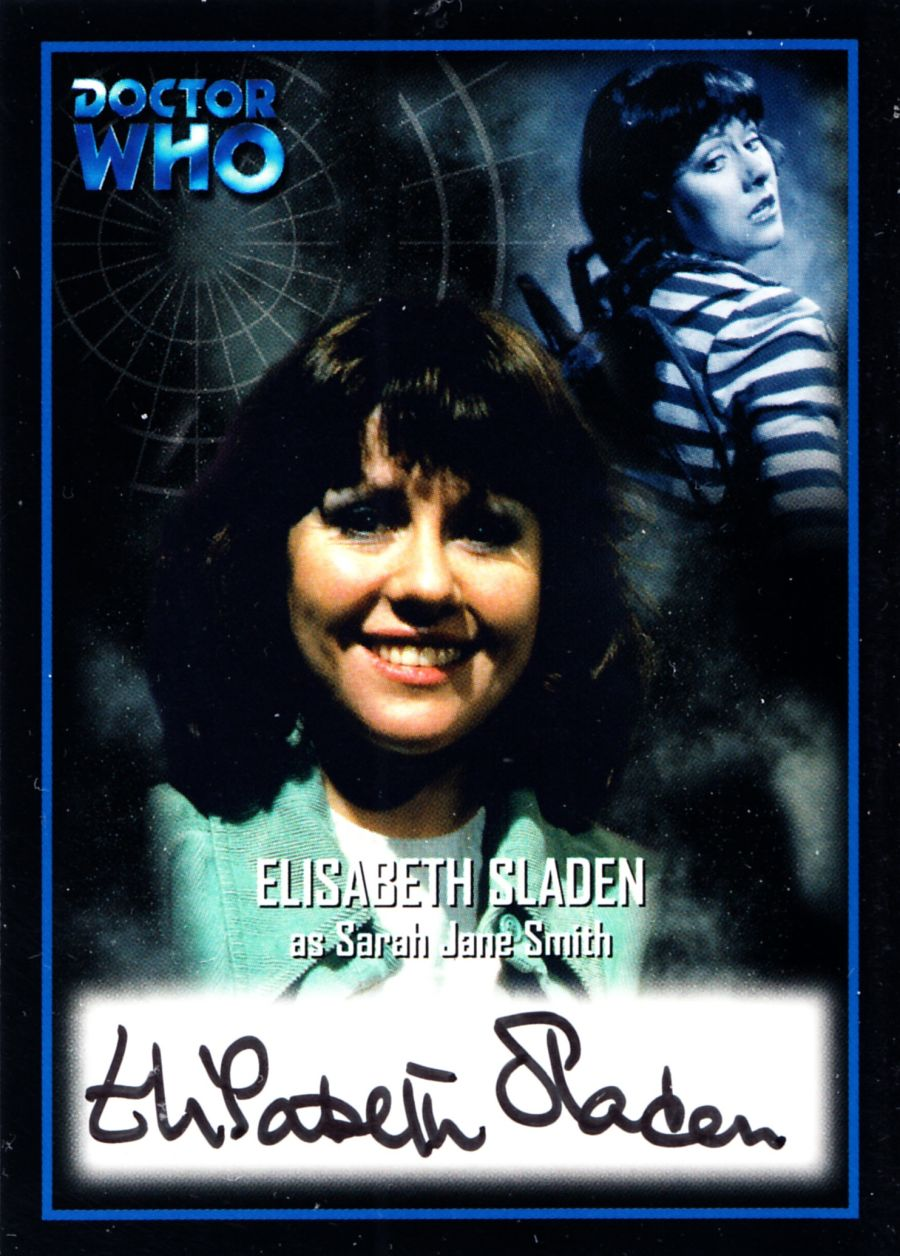 Elisabeth Sladen Signed Sarah Jane Smith Doctor Who Autograph Auto Card AU8