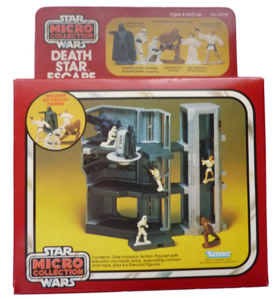Vintage Star Wars Micro Collection Death Star Escape Action Playset 1982 MISB
