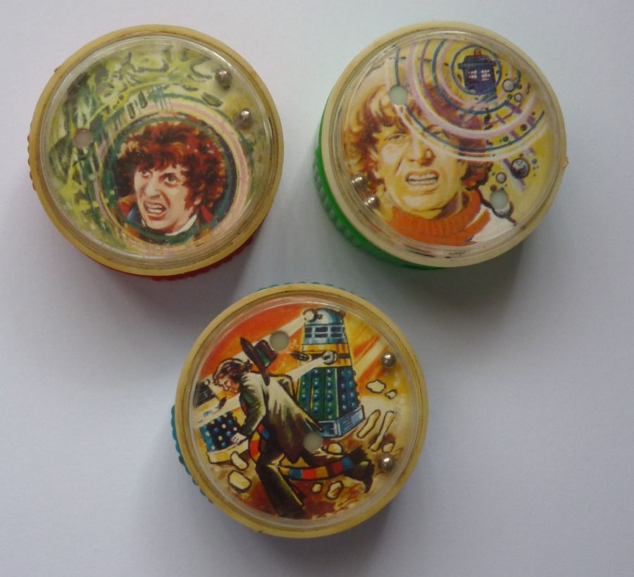 Set Of 3 4th Dr Tom Baker Doctor Who 1979 H.C. Ford UK Pencil Sharpeners