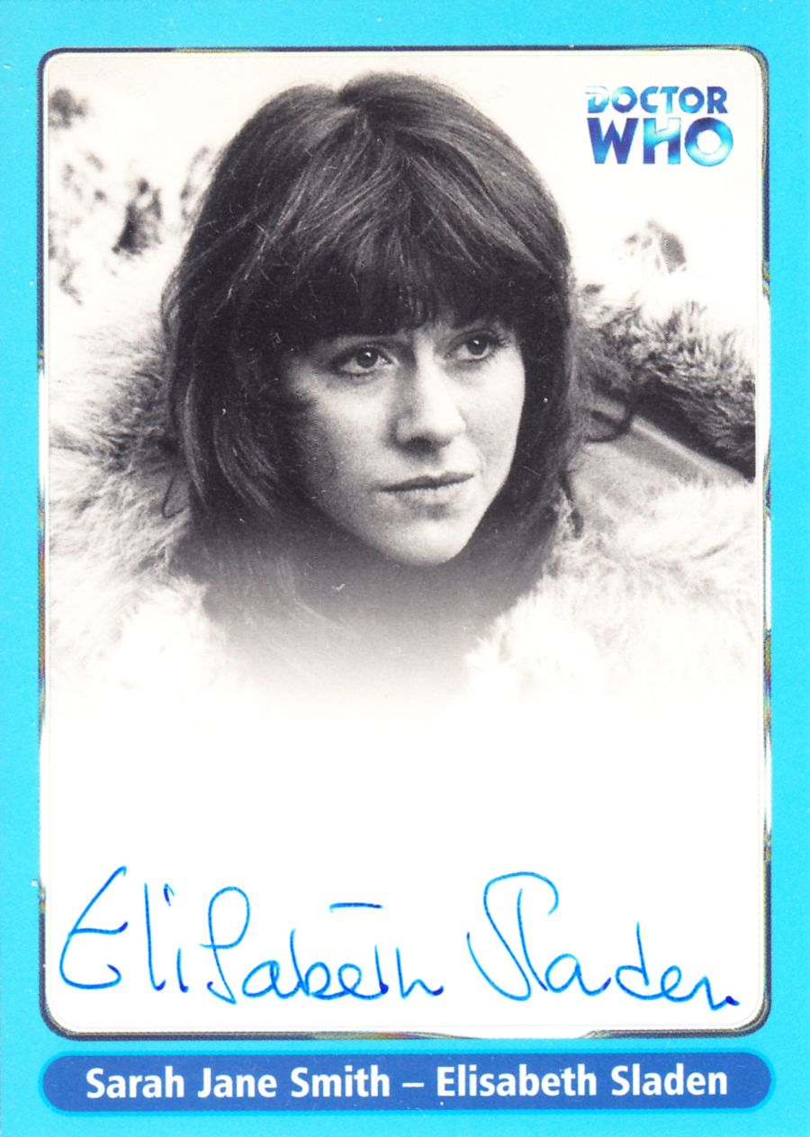 Elisabeth Sladen Signed Sarah Jane Smith Doctor Who Autograph Auto Card A12