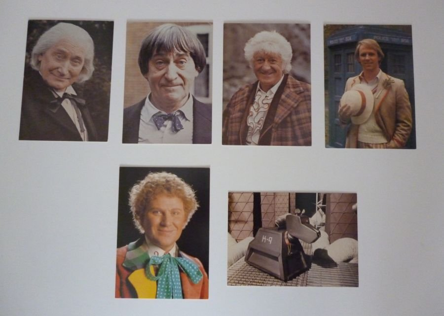 Classic Original BBC Doctor Who Six Cast Postcard Set