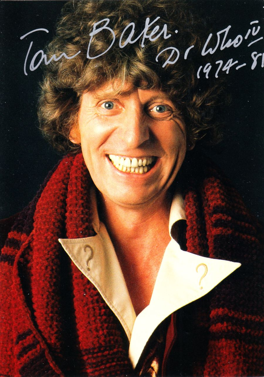 Doctor Who Signed Tom Baker Autograph The 4th Dr BBC Official Postcard