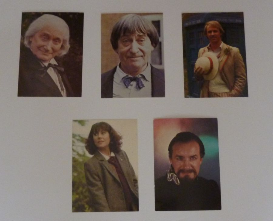 Original BBC Classic Doctor Who Five Cast Card Postcard Set