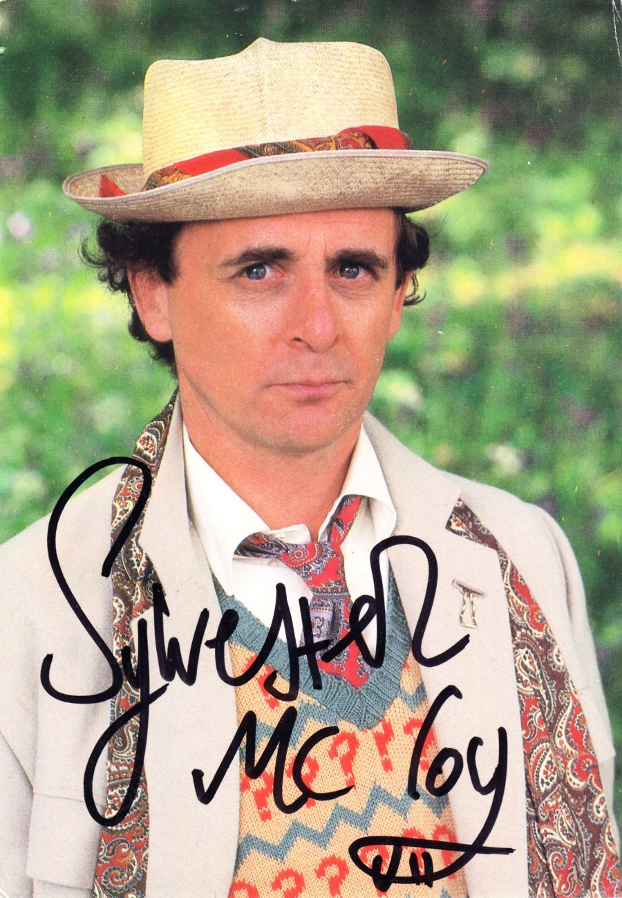 Sylvester McCoy Signed 7th Dr BBC Doctor Who Autograph Postcard & Proof